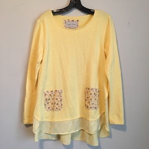 Evy's Tree | Yellow Floral Pocket Tunic Large